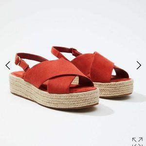 Espadrille sling back sandal